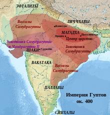 династия гуптов, цивилизация гуптов карта