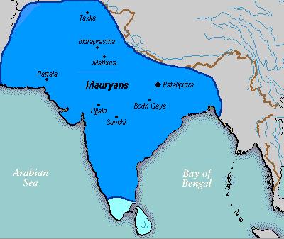 магадха стала карта династия мауриев