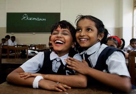 индийские девочки на уроке