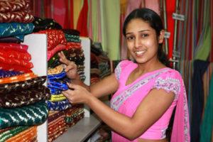 покупка сари в индии