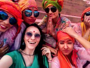 Катя Пешакова в Индии