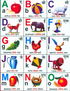 Англо-хинди алфавит ч.1