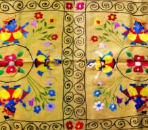 Чамба румал - индийская вышивка