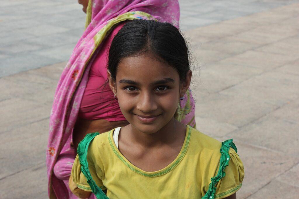 Девочка индия сари