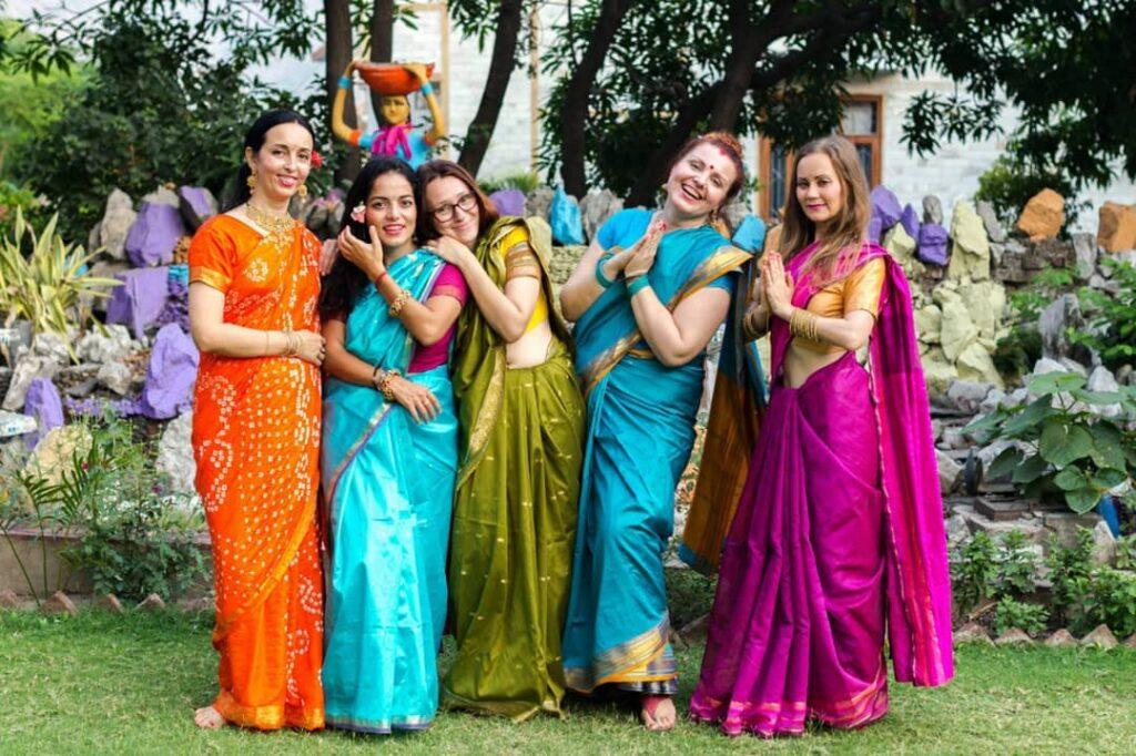 хинди индия сари