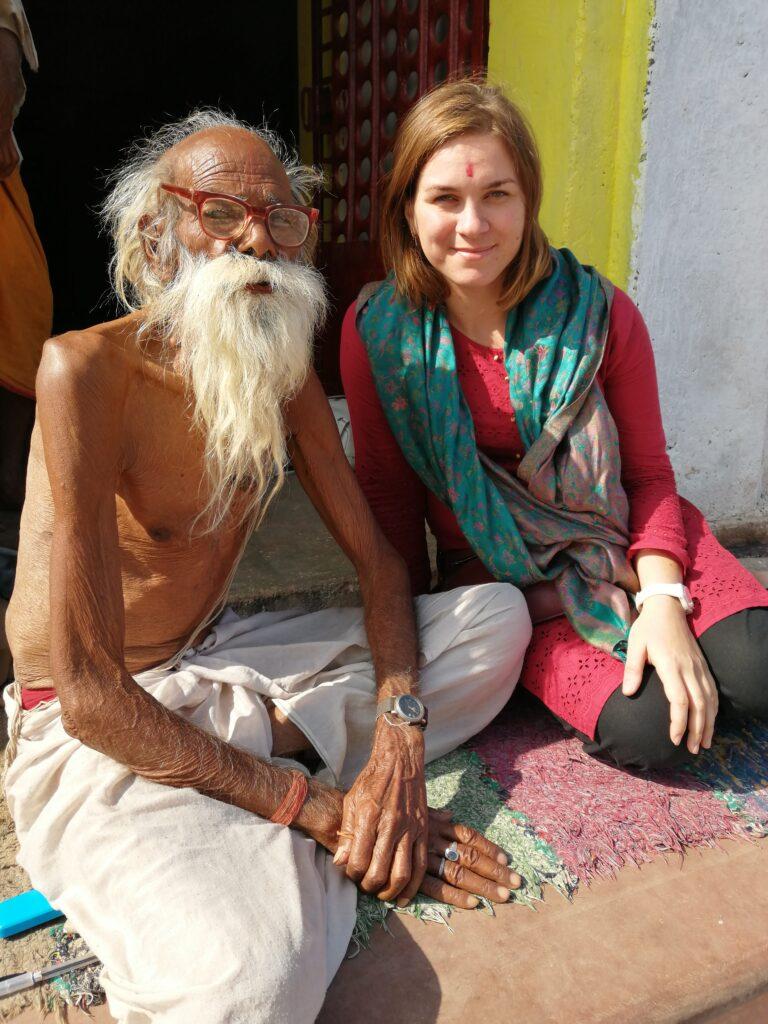 Анна Сошникова с Бабу, Индия, Орчха