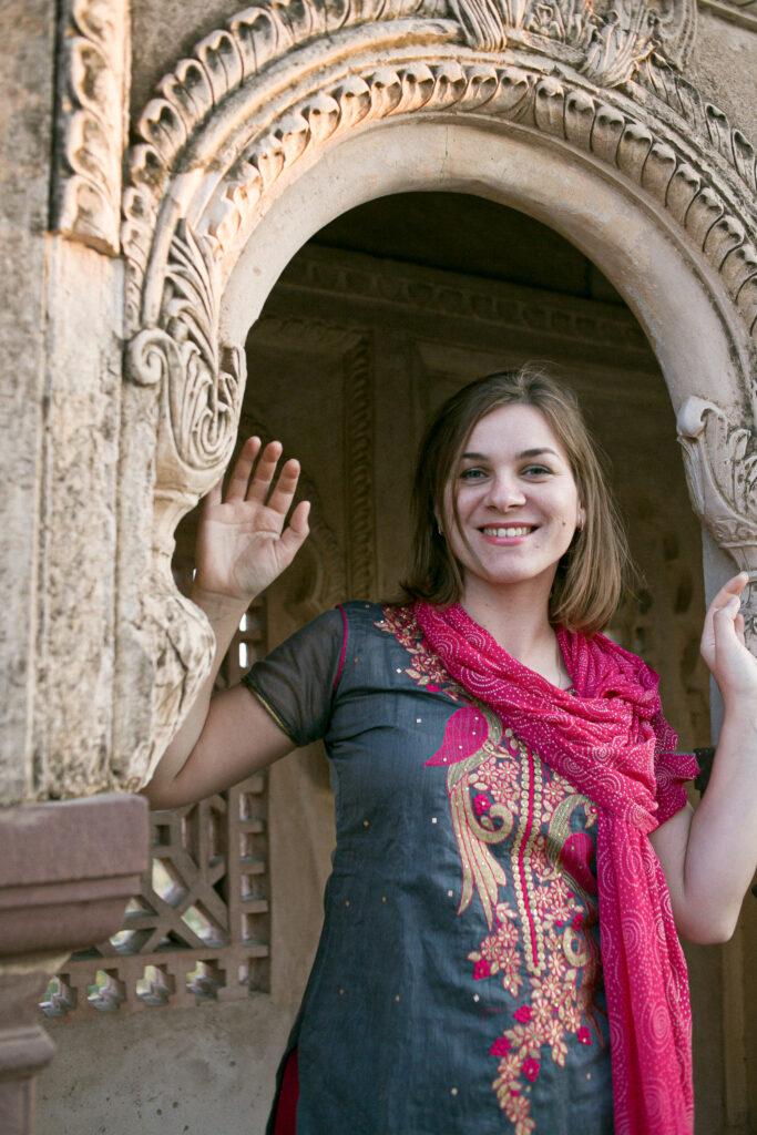 Анна Сошникова в Индии