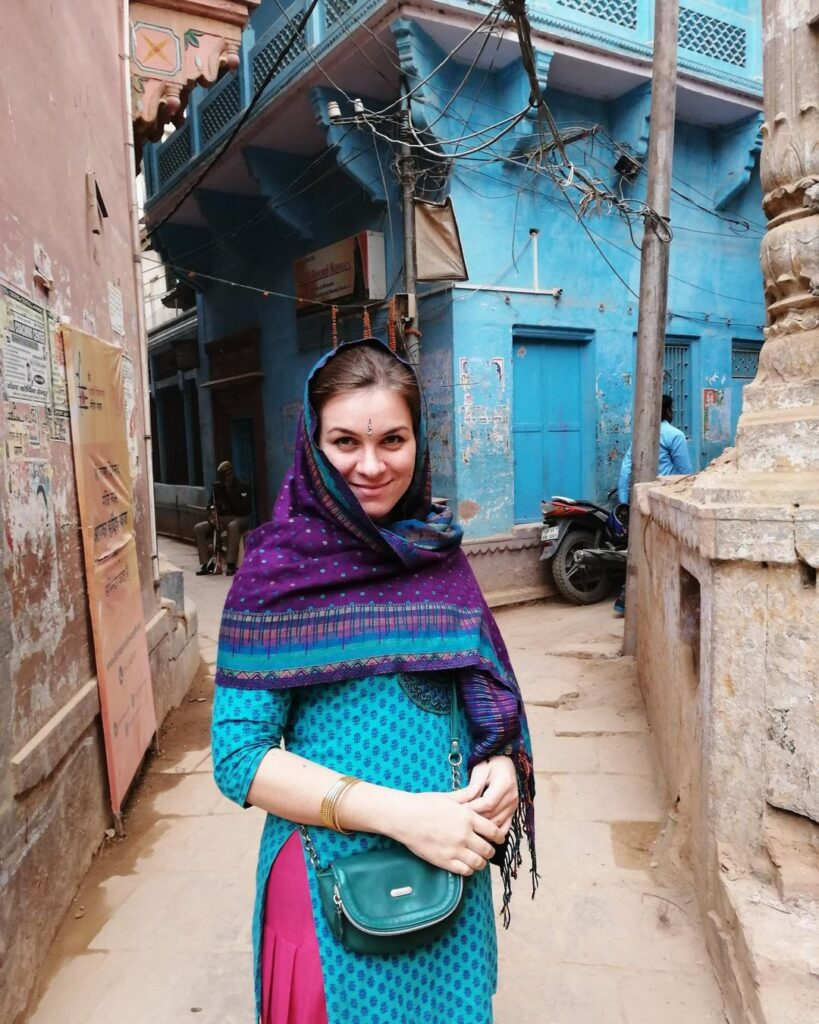 Индия Варанаси Сари